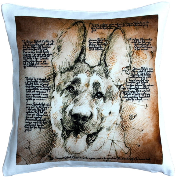 German Shepherd Dog Pillow 17x17