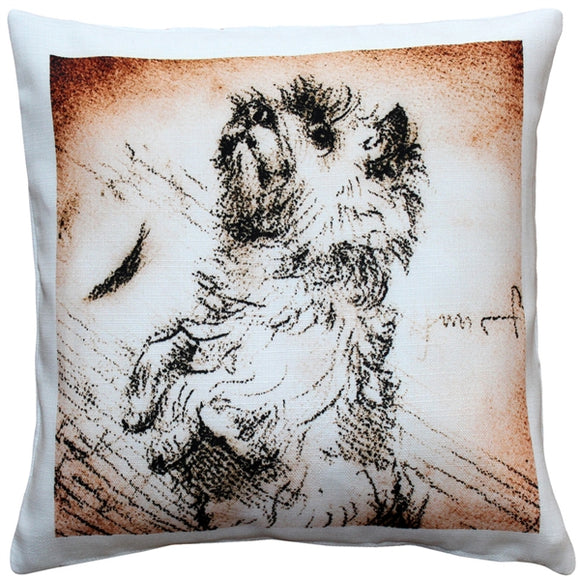 Cairn Terrier Sitting Up Dog Pillow 17x17