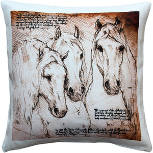 Andalusian Horses Throw Pillow 17x17
