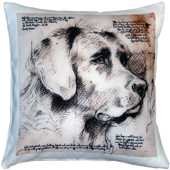Labrador Dog Pillow 17x17