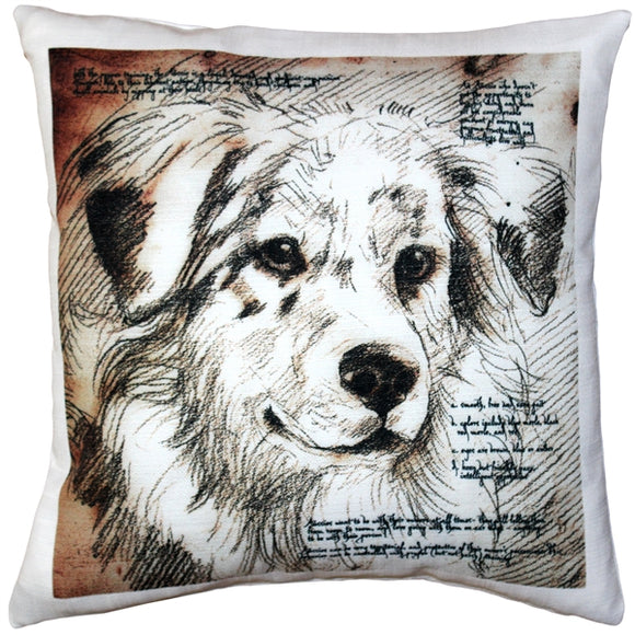 Australian Sheepdog Pillow 17x17