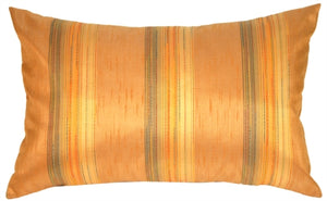Soft Stripes Rectangular in Orange Marmalade Accent Pillow