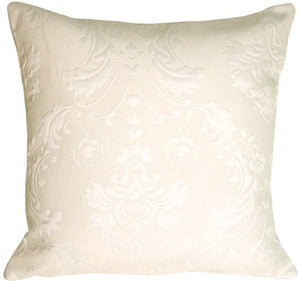 Cream Matelasse Square Accent Pillow
