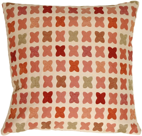 Cherry Cross on Sand 20x20 Square Throw Pillow