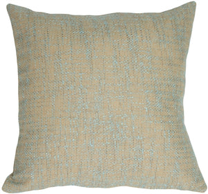 "Turquoise Texture on Sand 19"" Square Decorative Pillow"