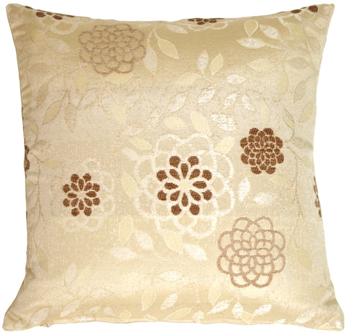 Floral on Cream Decorative Pillow