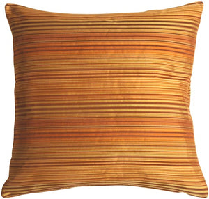 Brown Stripes Square Decorative Pillow