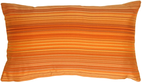 Orange Stripes Rectangular Decorative Pillow