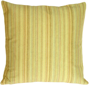 Lime Stripes Decorative Pillow