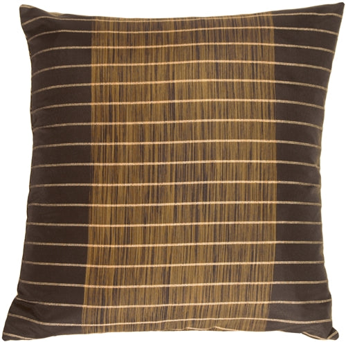 Charcoal Stripes and Strands Decorative Pillow