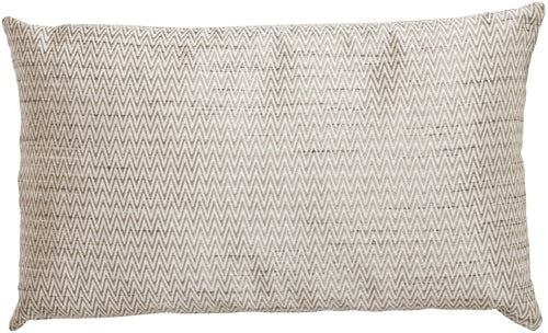 Silver Zigzag Rectangular Decorative Pillow