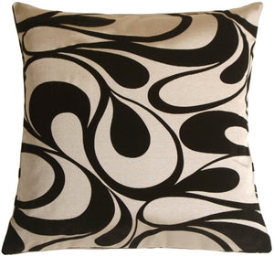 "Dramatic Swirls Silver 19"" Square Decorative Pillow"