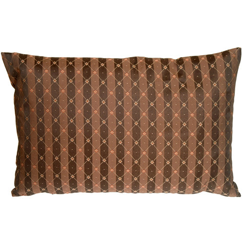 Manhattan Stripes in Brown and Black Rectangular Throw Pillow