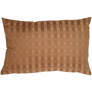 Manhattan Stripes in Brown Rectangular Throw Pillow