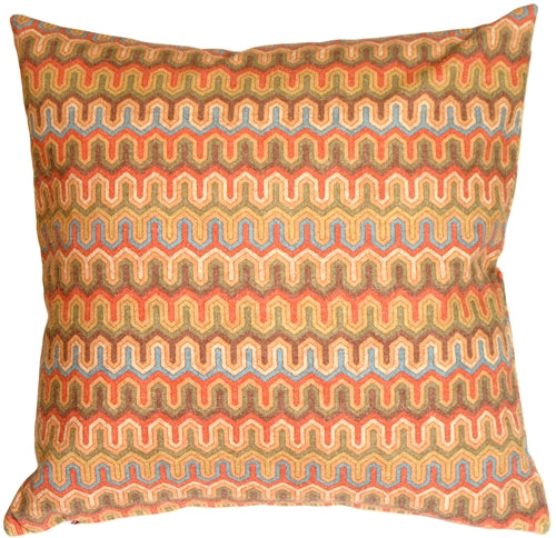 Monterey Bay Multi-Color Square Toss Pillow