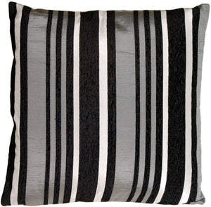 Licorice Stripes Square Decorative Pillow