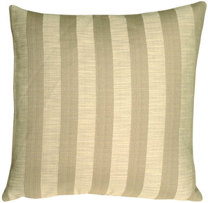 Classic Stripes in Two-Tone Taupe Square Accent Pillow