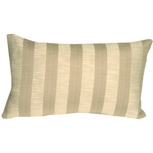 Classic Stripes in Two-Tone Taupe Rectangular Accent Pillow