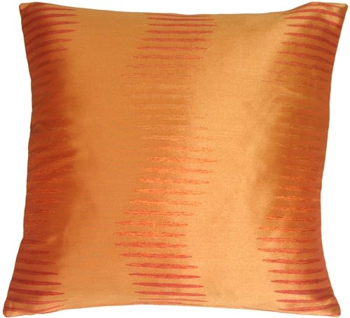 Sunset Waves Orange Square Toss Pillow