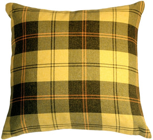Contemporary Plaid Yellow 20x20 Throw Pillow