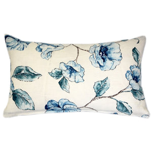Blue Lily Linen Throw Pillow 12x20