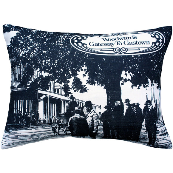 Woodward's Gateway to Gastown Throw Pillow 16X20