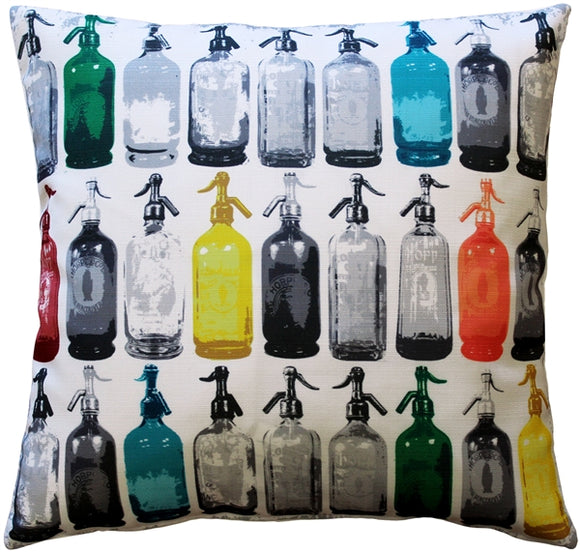 Seltzer Jazz Vintage Throw Pillow 20x20