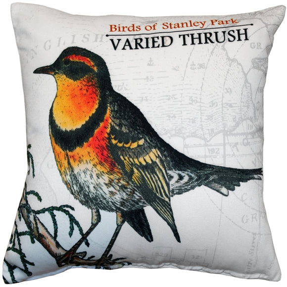 Varied Thrush Bird Pillow 18X18