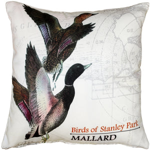 Mallard Bird Pillow 18X18