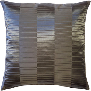 Pinctada Pearl Graphite Gray Throw Pillow 19x19