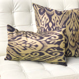 Mallorca Carbon Ikat Throw Pillow 20x20