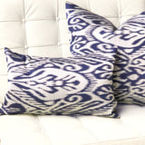 Mallorca Bluefin Ikat Throw Pillow 20x20