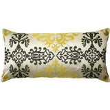PILLOW DÉCOR Sumatra Embroidered Silk Pillow 12x24