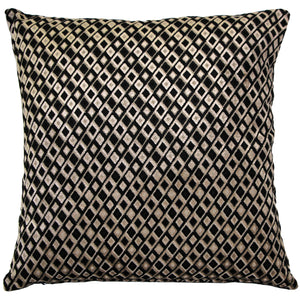 Jager Black Diamond Throw Pillow 20x20