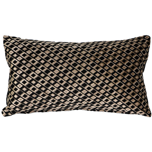 Jager Black Diamond Throw Pillow 12x20