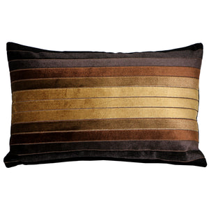 Bullion Stripes Velvet Throw Pillow 12x19