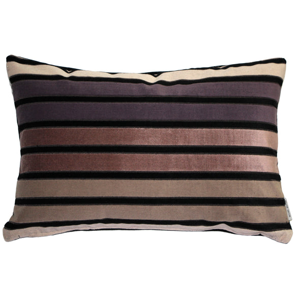 Amethyst Stripes Throw Pillow 12x20