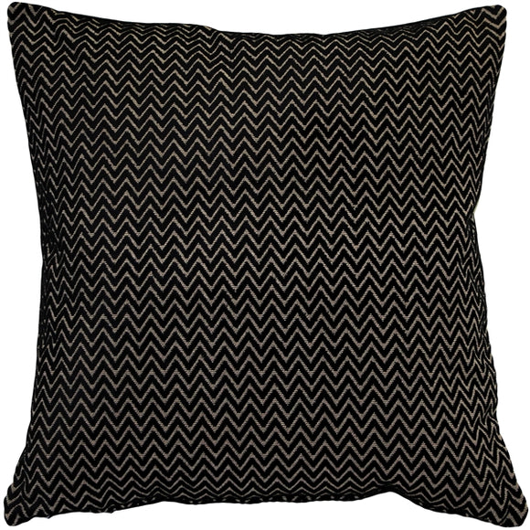 Art Deco Stripes Textured Velvet Throw pillow 20x20