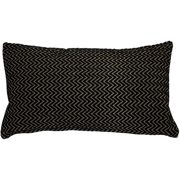Art Deco Textured VelvetStripes Throw pillow 12x20
