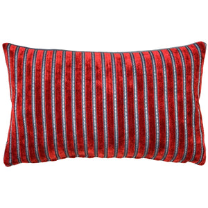 Rockefeller Lava Red Velvet Throw Pillow 12x20