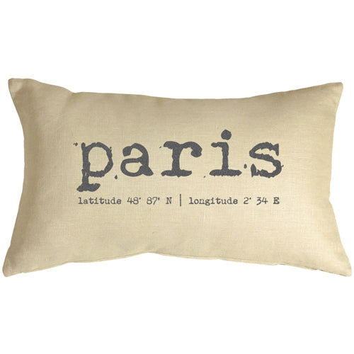 Paris Coordinates 12x20 Throw Pillow