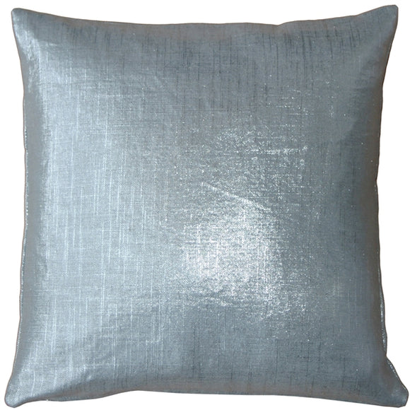 Tuscany Linen Silver Metallic 20x20 Throw Pillow
