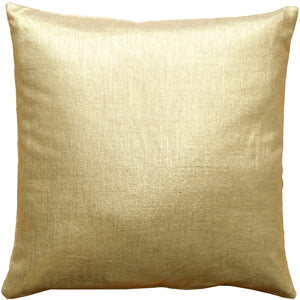 Tuscany Linen Gold Metallic 20x20 Throw Pillow