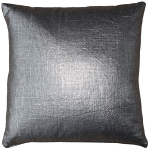 Tuscany Linen Platinum Metallic 20x20 Throw Pillow