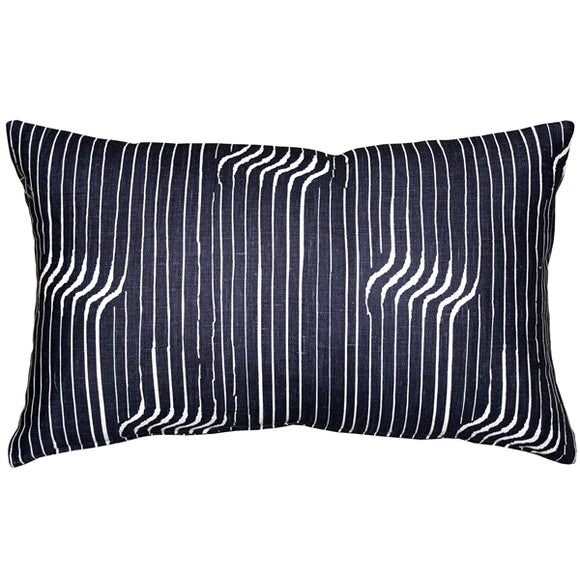 Tuscany Linen Shockwave Blue Throw Pillow 12x20