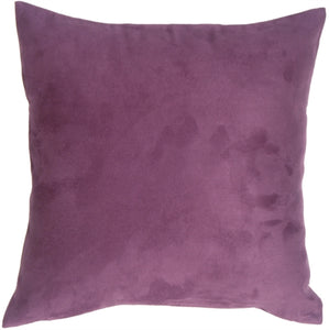 15x15 Royal Suede Deep Purple Throw Pillow