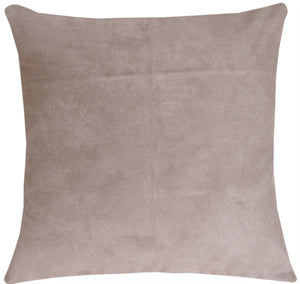 15x15 Royal Suede Silver Gray Throw Pillow