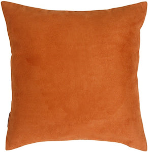 15x15 Royal Suede Burnt Orange Throw Pillow