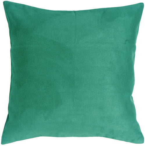 19x19 Royal Suede Turquoise Throw Pillow