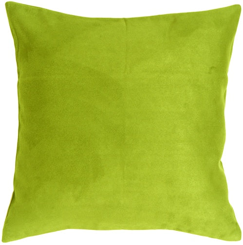 15x15 Royal Suede Lime Green Throw Pillow